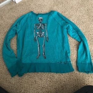 Wildfox distressed skeleton jumper!
